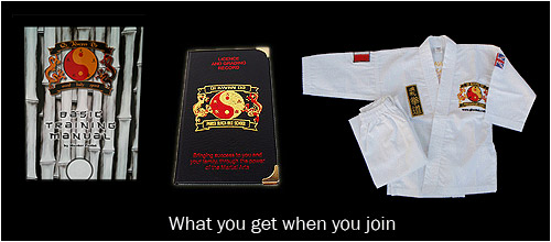 What you get when you join | Manual, Licence and suit